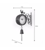 @ Home Black Plastic 11 x 3.5 x 14.2 Inch Doodle Station Wall Clock