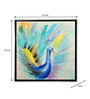 @ Home Canvas & MDF 31.5 x 1.2 x 31.5 Inch Homely Peacock Framed Art Print