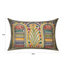 13 Odds Multicolour Art Silk 12 x 18 Inch Shaurya Art Embroidery Cushion Cover