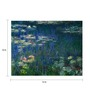 64Arts Canvas 16 x 12 Inch Water Lilies by Claude Monet Unframed Digital Art Print