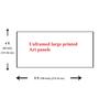 999Store Vinyl 108 x 0.4 x 48 Inch Abstract Painting Unframed Digital Art Print