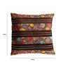 Aapno Rajasthan Brown Silk 16 x 16 Inch Cushion Covers - Set of 2