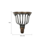 Aarsun Woods Brown Iron & Wood Decorative Wall Bracket