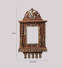 Aarsun Woods Brown Solid Wood Traditional Rajasthani Jharokha