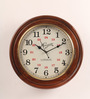 Abbett Retro Wall Clock in Brown by Amberville