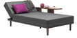 Alia L shaped comfortable Sofa bed in Grey colour by Furny