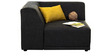 Alia Modular Two Seater Sofa (2 Corner Seater) in Black Colour by Furny