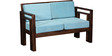 Dousman Two Seater Sofa in Provincial Teak Finish by Woodsworth