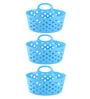 All Time Plastic Blue 500 ML Tote Basket - Set of 3