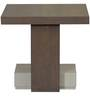 Almanzo End Table in Belgian Oak and Solid Grey Finish by CasaCraft