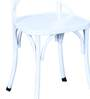 Alva Metal Chair in Distress White Color by Bohemiana