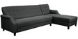 Amalia LHS Three Seater Sofa with Lounger in Grey Colour by CasaCraft