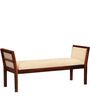 Rosendale Upholstered Bench in Honey Oak Finish by Woodsworth
