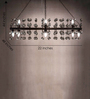 Anemos Brown Metal Chandelier