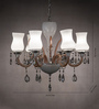 Anemos Transparent Metal & Glass Chandelier