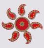 Anisha Creatives Multicolour Metal & Plastic Festive Rangoli Set