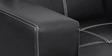 Arizona Three Seater Sofa in Black Colour by Home Art Creations
