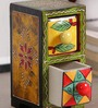 Art of Jodhpur Multicolor Solidwood  Handpainted  Collectible with 2 drawers