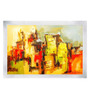 ArtCollective City Canvas 36 x 36 Inch Framed Art Print