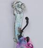 Artisans Rose Blue Solidwood Slipper-Shaped  Key Holder