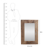 Artisans Rose Brown Solidwood Off-The-Railroad Framed Mirror