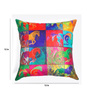 ARTychoke Multicolor Silk 12 x 12 Inch Horse Swirl Cushion Cover