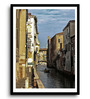 Asian Artisans MDF & Paper 16 x 2.5 x 22 Inch Waterways Framed Digital Art Print