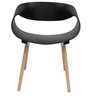 Asten Accent Chair in Black Colour by Starshine