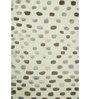 Asterlane Ivory Wool & Silk 96 x 60 Inch Abstract Rectangular Area Rug
