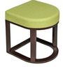 Attractive Coffee Table with Two Green Cushioned Stools by ARRA