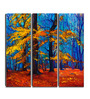 Hashtag Decor Autumn Forest Engineered Wood 6 x 18 Inch Framed Art Panel