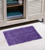 Azaani Purple & Brown 2-piece Bathmat Set