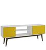 Azami Entertainment Unit in White & Yellow Finish by Mintwud
