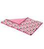 Bacati Elephant Pink Grey Baby Comforter