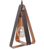 Bandra Flea Market Black & Gold Metal Equilateral Triangle Pendant