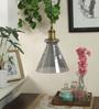 Bandra Flea Market Transparent Glass Smokey Bell Pendant