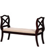 Mansfield Bench in Passion Mahogany Finish by Amberville