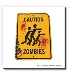 BCreative Multicolour MDF Zombies Funny Fridge Magnet