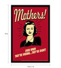 bCreative Paper & Fibre 13 x 1 x 19 Inch Mothers! Even When They're Wrong...They're Right! Officially Licensed Framed Poster