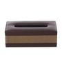 Belmun Beige and Brown 9.25 x 5.25 x 3.25 Inch Jute Finish Tissue Box