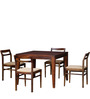 Bibiana Four Seater Dining Set in Provincial Teak Finish by Woodsworth