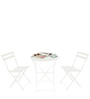 Bistro Folding Chair & Table Set in White by Deneb