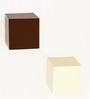 Bluewud Brown & White MDF & Duco Colorcube Wall Shelf Set