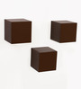 Bluewud Brown MDF & Duco Colorcube Wall Shelf - Set of 3