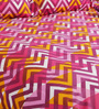 Bombay Dyeing Pink Poly Cotton Queen Size Bedsheet - Set of 3