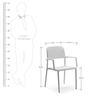 Nardi Bora Chair in Bianco Finish by Patios