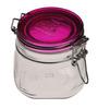Bormioli Rocco Fido Rosa Fucsia Clear Glass 500 ML Jar- Set of 2