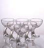 Bormioli Rocco Jerba Transparent Glass 345 ML Ice Cream Bowl - Set Of 6