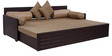Brick Sofa Cum Bed in Brown Colour by Arra