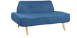 Camilia Two Seater Sofa in Blue Colour by CasaCraft